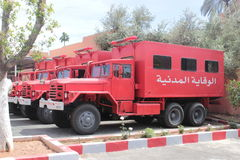 Φορτηγό του Μαρόκου πυροσβεστών Στοκ φωτογραφία με δικαίωμα ελεύθερης χρήσης