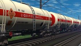 Φορτηγό τρένο με τα αυτοκίνητα δεξαμενών πετρελαίου