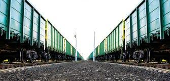 Φορτηγό τρένο φορτίου Στοκ Φωτογραφίες