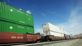Φορτηγό τρένο απόθεμα βίντεο