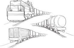 Φορτηγό τρένο στοκ εικόνες