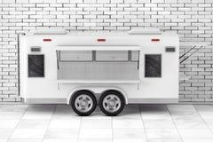 Φορτηγό τροφίμων τροχόσπιτων ρεύματος αέρος τρισδιάστατη απόδοση Στοκ φωτογραφία με δικαίωμα ελεύθερης χρήσης