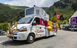 Φορτηγό Cofidis - γύρος de Γαλλία 2014 Στοκ εικόνες με δικαίωμα ελεύθερης χρήσης