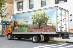 Φορτηγό FreshDirect στοκ φωτογραφίες