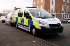 Φορτηγό UK αστυνομίας στοκ εικόνες