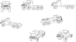 Φορτηγό Ural Διανυσματική απεικόνιση