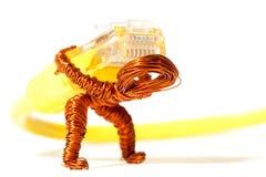 φορτωμένα dude χαλκού καλώδι&al Στοκ φωτογραφία με δικαίωμα ελεύθερης χρήσης