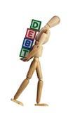 φορτωμένο χρέος στοκ φωτογραφία