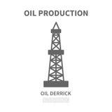 φορτωτήρας πετρελαίου επίσης corel σύρετε το διάνυσμα απεικόνισης Στοκ εικόνα με δικαίωμα ελεύθερης χρήσης