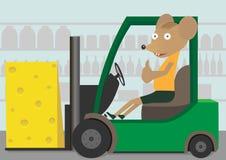 Φορτωτής με το τυρί Ελεύθερη απεικόνιση δικαιώματος