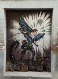 Φουνκάλ, Μαδέρα - η τέχνη της ανοιχτής πόρτας στην οδό της Σάντα Μαρία Στοκ φωτογραφίες με δικαίωμα ελεύθερης χρήσης