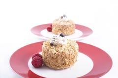 φουντούκι δύο κέικ Στοκ Εικόνα