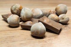Φουντούκι και σοκολάτα 4 Στοκ Εικόνα