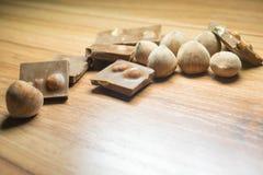 Φουντούκι και σοκολάτα 16 Στοκ Εικόνες