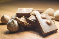 Φουντούκι και σοκολάτα 20 Στοκ Φωτογραφίες