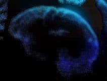 Φουτουριστικά εικονοκύτταρα επίδειξης οθόνης Στοκ Φωτογραφία