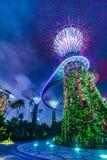 Φουτουριστική άποψη της Σιγκαπούρης Στοκ φωτογραφία με δικαίωμα ελεύθερης χρήσης