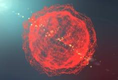 Φουτουριστική ανασκόπηση τεχνολογίας Φουτουριστική φαντασία τριγώνων πλεγμάτων τρισδιάστατη απόδοση Στοκ Φωτογραφίες