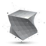 Φουτουριστική γραπτή μοντέρνη κατασκευή techno, περίληψη Στοκ φωτογραφία με δικαίωμα ελεύθερης χρήσης