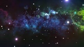 Φουτουριστική διαστημική εικόνα αστεριών διανυσματική απεικόνιση