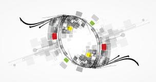 Φουτουριστική επιχείρηση β τεχνολογίας υπολογιστών Διαδικτύου υψηλή Στοκ Εικόνα