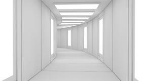 Φουτουριστική εσωτερική αρχιτεκτονική τεχνολογίας Στοκ Εικόνες