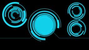 Φουτουριστική οθόνη κινήσεων HUD διανυσματική απεικόνιση