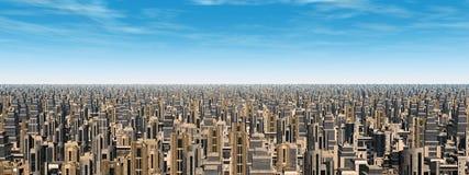 Φουτουριστική πόλη ελεύθερη απεικόνιση δικαιώματος