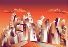 φουτουριστική πόλη Στοκ Εικόνες