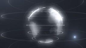 Φουτουριστική σφαίρα των σημείων Διεπαφή παγκοσμιοποίησης Αίσθηση της αφηρημένης γραφικής παράστασης επιστήμης και τεχνολογίας τρ απεικόνιση αποθεμάτων