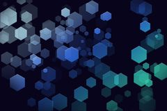 Φουτουριστική Hexagon ταπετσαρία υποβάθρου ελεύθερη απεικόνιση δικαιώματος