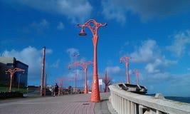 Φουτουριστικοί λαμπτήρες οδών Στοκ φωτογραφία με δικαίωμα ελεύθερης χρήσης