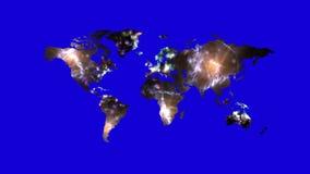Φουτουριστικός αφηρημένος χάρτης με τα θολωμένα μόρια αύρας και ενέργειας απόθεμα βίντεο