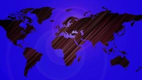 Φουτουριστικός αφηρημένος χάρτης με το χρυσό ελαφρύ φύλλο βράσης απόθεμα βίντεο