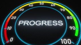 Φουτουριστικός δείκτης προόδου τρισδιάστατη εννοιολογική απόδοση ελεύθερη απεικόνιση δικαιώματος
