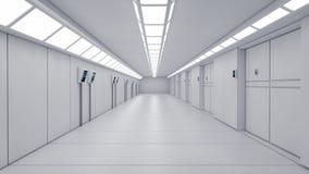Φουτουριστικός εσωτερικός διάδρομος απεικόνιση αποθεμάτων