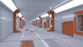 Φουτουριστικός εσωτερικός διάδρομος ελεύθερη απεικόνιση δικαιώματος