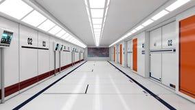 Φουτουριστικός εσωτερικός διάδρομος διανυσματική απεικόνιση