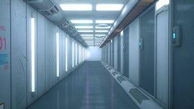 Φουτουριστικός διάδρομος αρχιτεκτονικής υποβάθρου