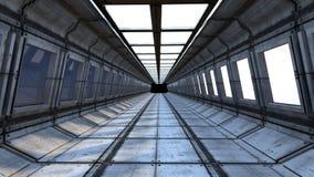 Φουτουριστικός διάδρομος Στοκ εικόνα με δικαίωμα ελεύθερης χρήσης