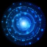 Φουτουριστικός κύκλος του υποβάθρου τεχνολογίας Στοκ Εικόνα