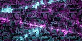 Φουτουριστικός πίνακας υπολογιστών του Sci Fi τεχνητής νοημοσύνης με το ΝΕ διανυσματική απεικόνιση