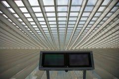 Φουτουριστικός σιδηροδρομικός σταθμός Λιέγη-Guillemins Στοκ φωτογραφίες με δικαίωμα ελεύθερης χρήσης