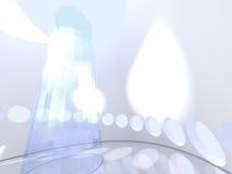 Φουτουριστικός σύγχρονος στρογγυλός εσωτερικός με το γυαλί διανυσματική απεικόνιση