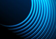 Φουτουριστικό αναδρομικό μπλε αφηρημένο υπόβαθρο γραμμών λέιζερ νέου διανυσματική απεικόνιση
