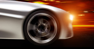 Φουτουριστικό αυτοκίνητο Στοκ εικόνες με δικαίωμα ελεύθερης χρήσης