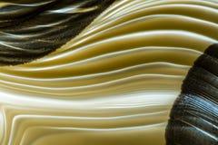 Φουτουριστικό αφηρημένο υπόβαθρο των όμορφων καμμένος γεωμετρικών γραμμών νέου κίτρινου αμμώδους χρώματος στοκ εικόνες με δικαίωμα ελεύθερης χρήσης