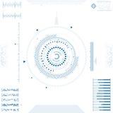Φουτουριστικό γραφικό ενδιάμεσο με τον χρήστη Στοκ εικόνες με δικαίωμα ελεύθερης χρήσης