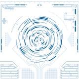 Φουτουριστικό γραφικό ενδιάμεσο με τον χρήστη Στοκ Εικόνες