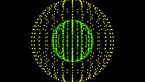 φουτουριστικό διάνυσμα απεικόνισης κύκλων ανασκόπησης Ενεργειακό δαχτυλίδι χρώματος απόθεμα βίντεο